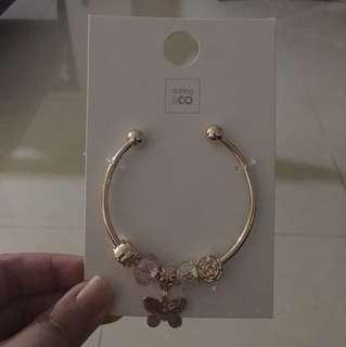 BN butterfly charm bracelet