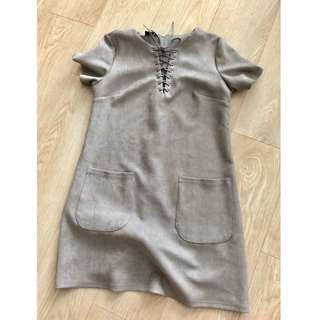 TSW Grey Suede Dress