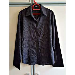 Plus Size 2X GSS Nautical Boyfriend Formal OL Shirt Top