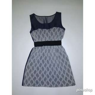 dress brokat jeans