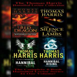 The Hannibal Lecter Trilogy (Hannibal Lecter #1-3) + Hannibal Rising by Thomas Harris