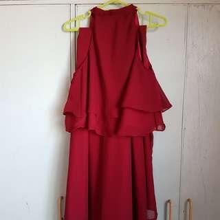 Two-piece Burgundy Sophie Dress