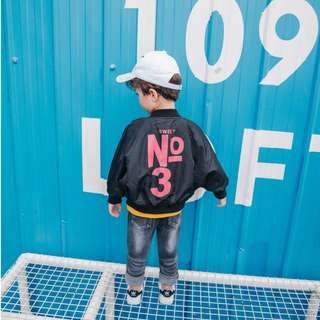 kids fashion boy bomber jacket