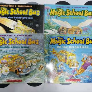 The Magical School Bus  1) Inside a Beehive  2) Lost in the Solar System   3) Inside a Hurricane  4) On the Ocean Floor