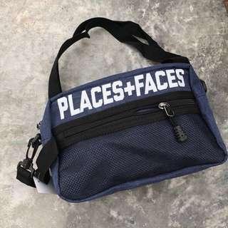 SLINGBAG PLACES+FACES NAVY BLUE
