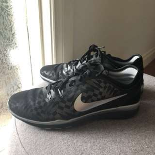 Nike Free Women's Black and Silver training shoes, size 9, EUC
