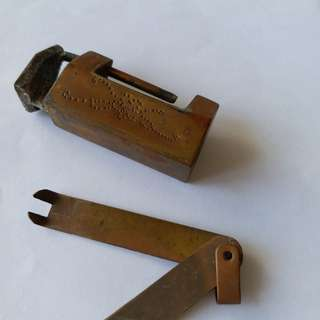 A miniature copper lock for collectors item. It is still working perfectly
