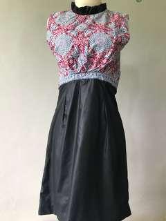 Dress Cantik Pesta Anggun Feminim Luxurious