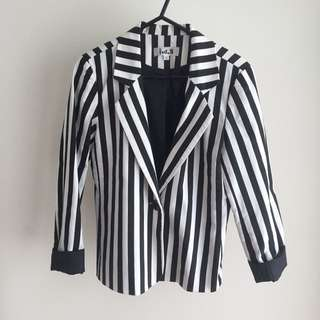 Black & white Stripped Blazer