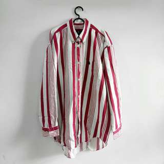 ROYAL QUEEN'S POLO TEAM Red Stripe Long Shirt
