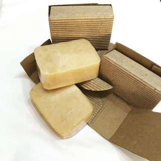 Coconut bar soap for face and body