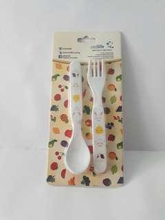 Child plastic utensil