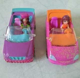 Polly Pocket cars with figures