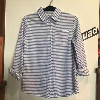 清爽條紋襯衫