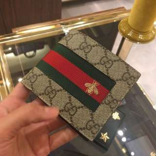 Gucci 男裝蜜蜂銀包 man wallet