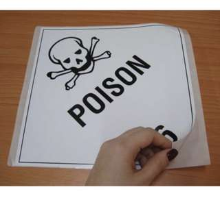 HZW044_PS Poison 6 paper sticker (pack of 5pcs) 240mm x 240mm