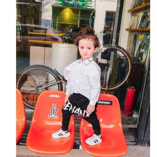 kids fashion boy long sleeves shirt