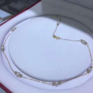 100%天然超級精緻4-5mm 極強光澤珍珠頸鏈