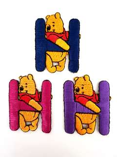 "Iron On Patch/ Applique ↪ Alphabet Pooh ""H"" ↔️ 💱 $2.00 Each Alphabet"