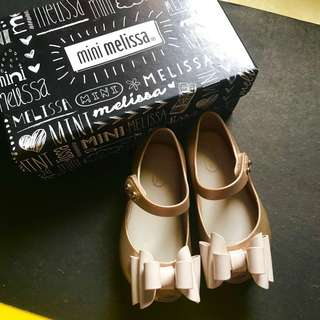 Mini Melissa Ultragirl Sweet 1 Gold Size 7 EUC
