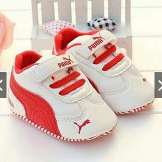 Baby Prewalker Puma (White/Red)