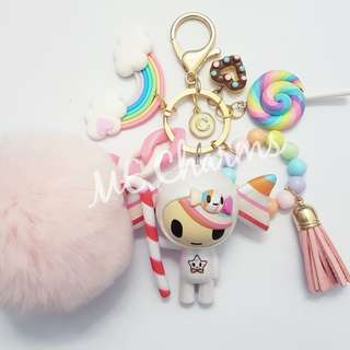 Tokidoki Donutella And Her Sweet Friends Series 1 Caramella Bag Charms / Fobs