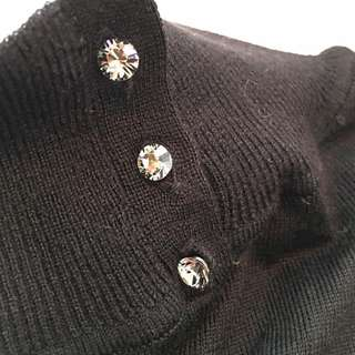 ❤️Giordano Ladies ❤️😎Black Wool mix Turtle Neck (S)