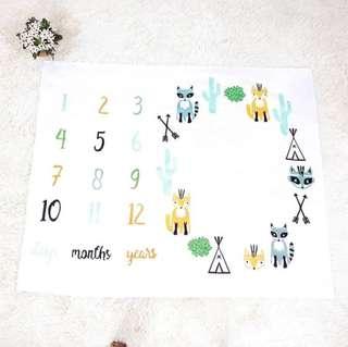 PO baby milestone mat/blanket