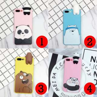IPHONE CASE - WE BARE BEARS Silicone phone case with animal