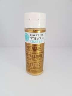 *bn* 59ml Martha Stewart Metallic Gold Paint acrylic paint