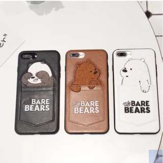 IPHONE CASE - We Bare Bears Leather Phone case