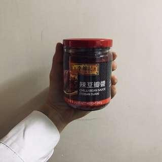 李錦記辣豆瓣醬240ml/罐chilli bean sauce(toban djan)麻婆豆腐撈飯拌飯辣酱拌麵酱