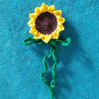 Crochet Sunflower Tag