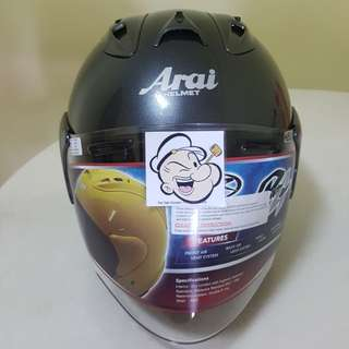 1203♡♡TSR RAM4 Gunmetal Grey Helmet CONVERT TO ARAI 🦀 For SALE, Yamaha Jupiter, Spark, Sniper,, Honda, SUZUKI