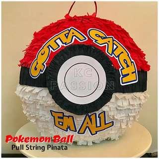 🎊 3D CUSTOMIZED POKEMON BALL PULL STRING PINATA