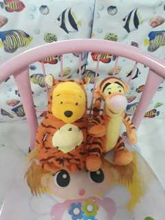 Winnie the pooh and tigger soft toy