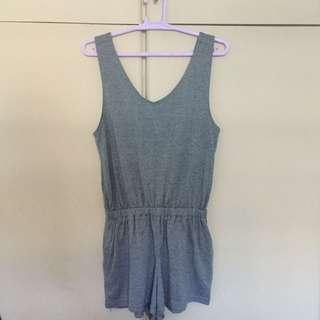 Cotton on gray sleeveless romper