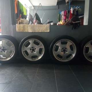 Sport rim Via Japan 5x100 with tyre