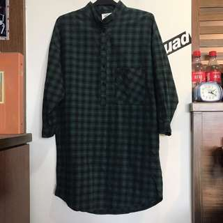 長版 格子襯衫