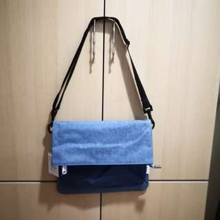 [PO] Japan Anello Flap 2 Way Shoulder Sling Bag~ Original 100% Authentic ☆Denim Blue ☆AT-B2263