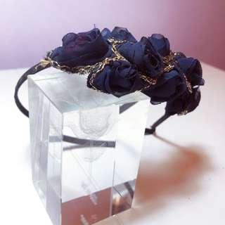 玫瑰 頭飾 晚裝 髮飾