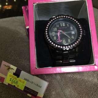 Pink Panther Watch (Black & Pink)
