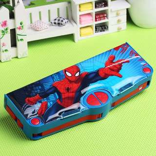 Brand New Spiderman Multi Functional Pencil Case
