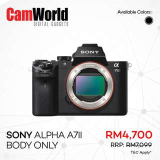 SONY Alpha A7 Mark II Body Only