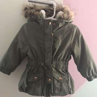 Khaki toddler girls jacket
