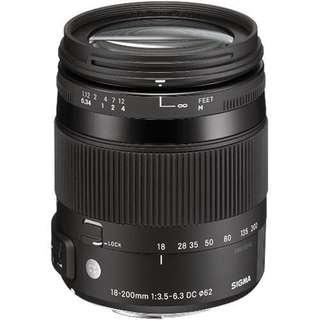 Sigma 18-200mm f/3.5-6.3 DC Macro OS HSM Lens (Canon/ Nikon)