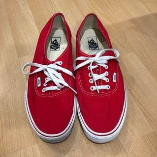 Vans 紅鞋