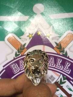 Titanium Steel Jewelry Lion Head