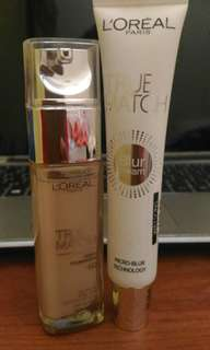 L'Oreal Paris True Match Liquid Foundation and Blur Cream