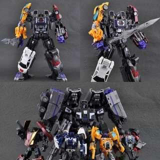Transformers Menasor Fansproject FPJ Set 變形金剛 衝鋒派 deluxe 比例